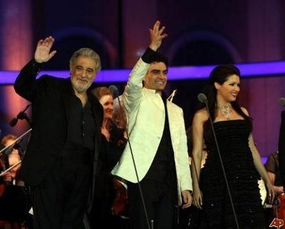 "Анна Нетребко, Placido Domingo, Rolando Villazon ""Концерт в Вене"" 2008 год"