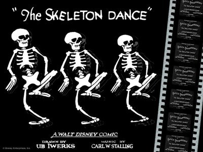 "Silly Symphony / Walt Disney ""The Skeleton Dance"" 1929 год"